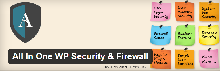 All in one WP Security & Firewall : Security plugin