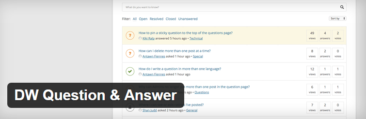DW Question and Answer : Forum Plugin