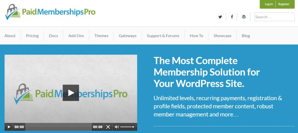 Paid Membership pro : Free Membership plugin