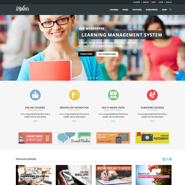 WPLMS : LMS Themes