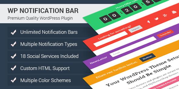 WP Notification Bar Pro: WordPress