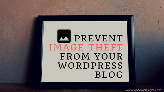 Prevent Image Theft from your WordPress Blog