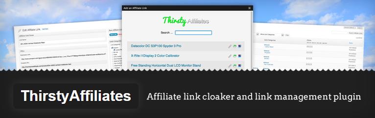 thirsty affiliates: affiliate plugin