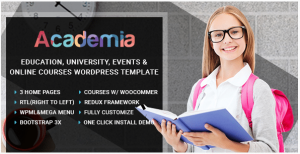 Academia: educational institutions theme