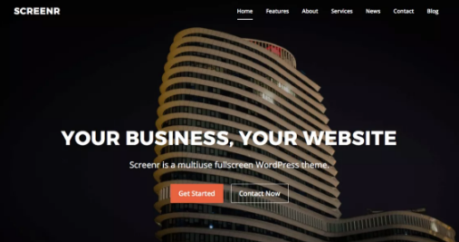 Screenr WordPress theme for site designing