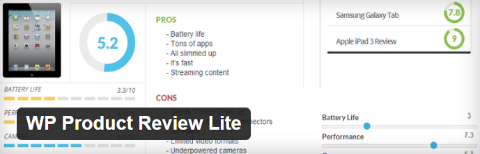 WP Product Review Lite: Review plugin