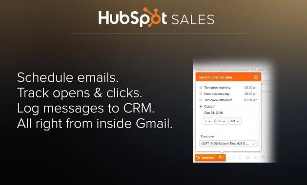 Hubspot sales for Gmail plugin