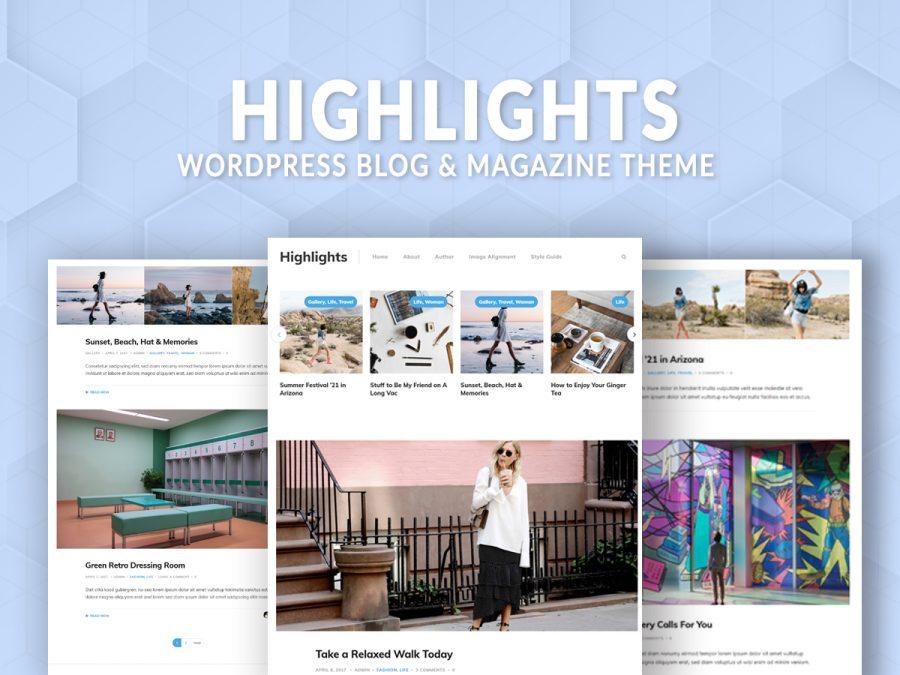 Highlights blog and magazine theme