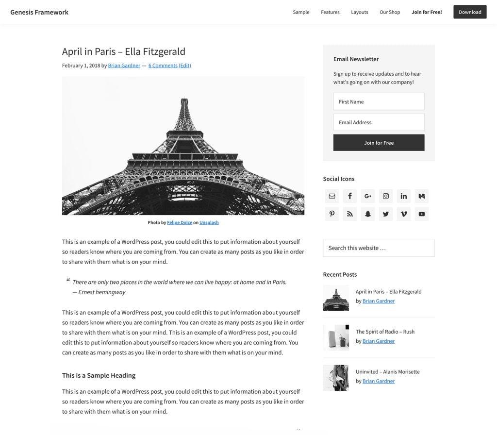 genesis, fully responsive WordPress themes