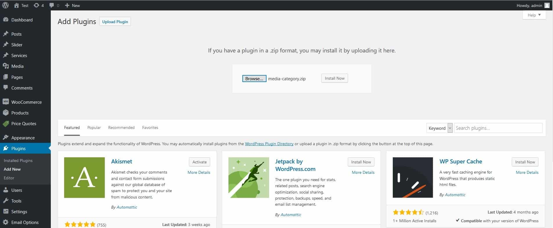 WordPress Media Category Plugin