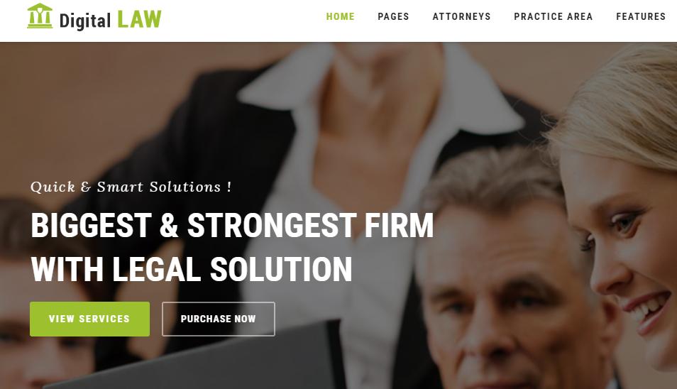 Digital Law - Lawyer Website Template