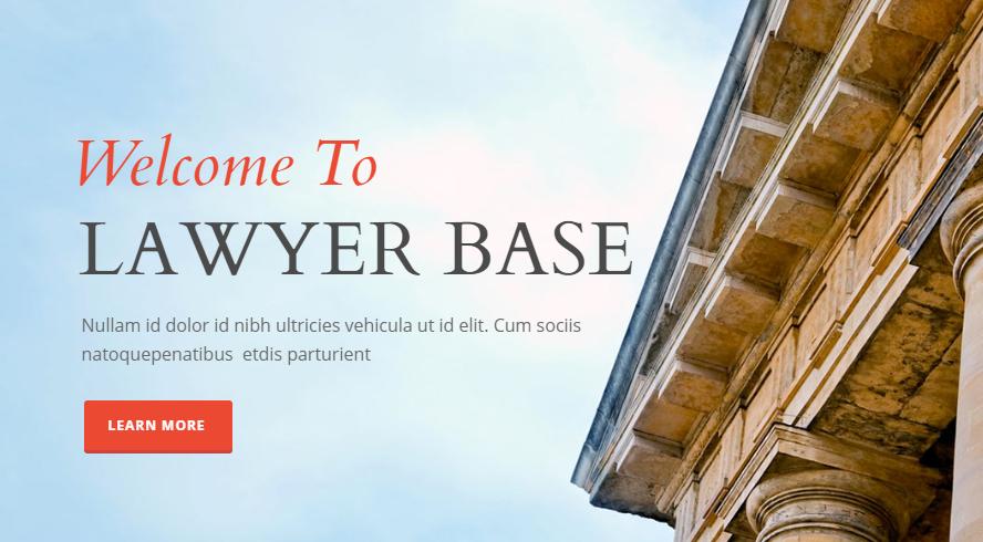 WordPress theme Lawyer Base