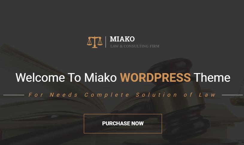 Miaku Solicitor WordPress Theme