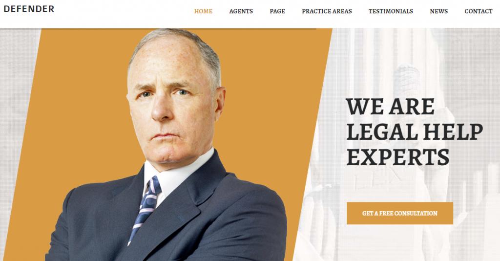 Legal Service WordPress Theme