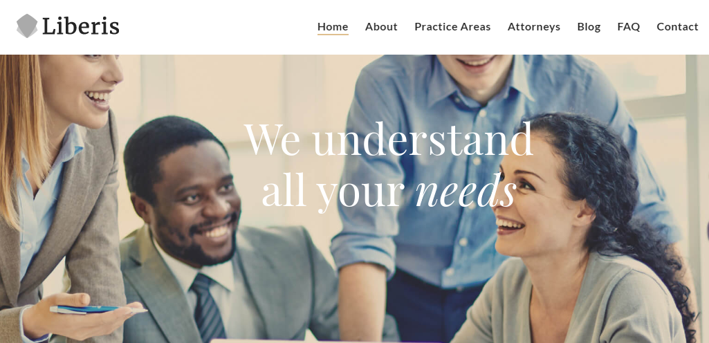 WordPress theme for legal offices