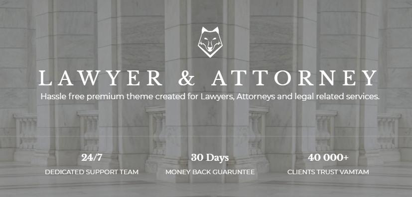 Lawyer & Attorney WordPress Website Design