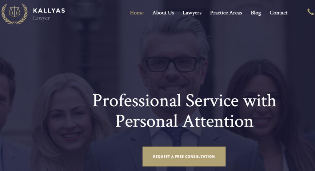 Attorney WordPress Template