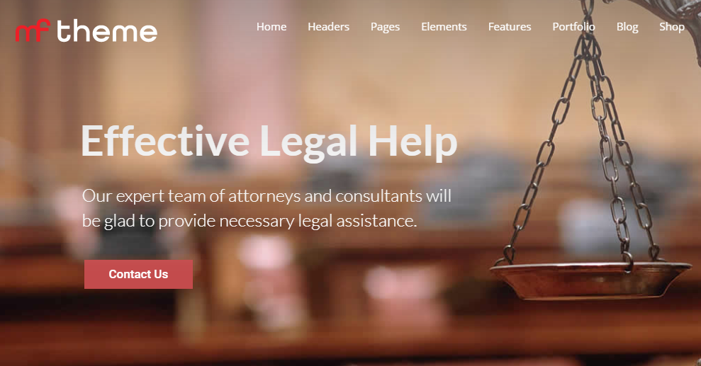 Legal Law Attorney Justice WP Theme