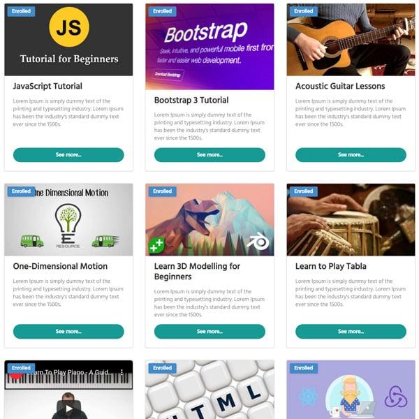 Edufire e-learning theme