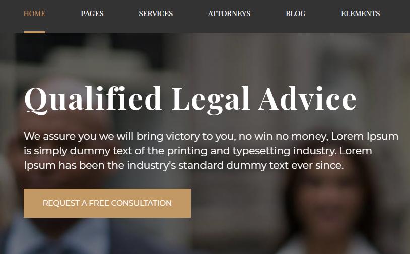 Legal Attorney WordPress Template