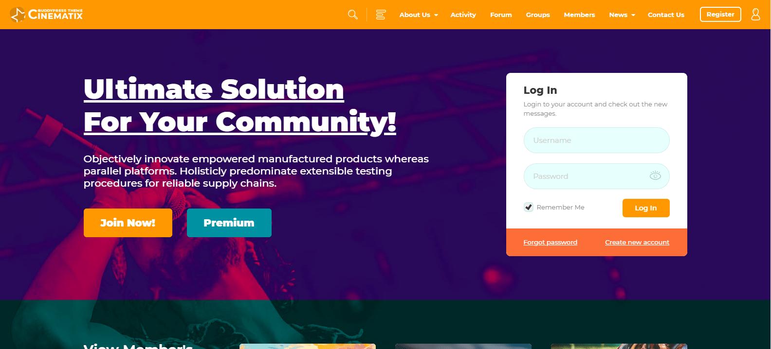 community theme