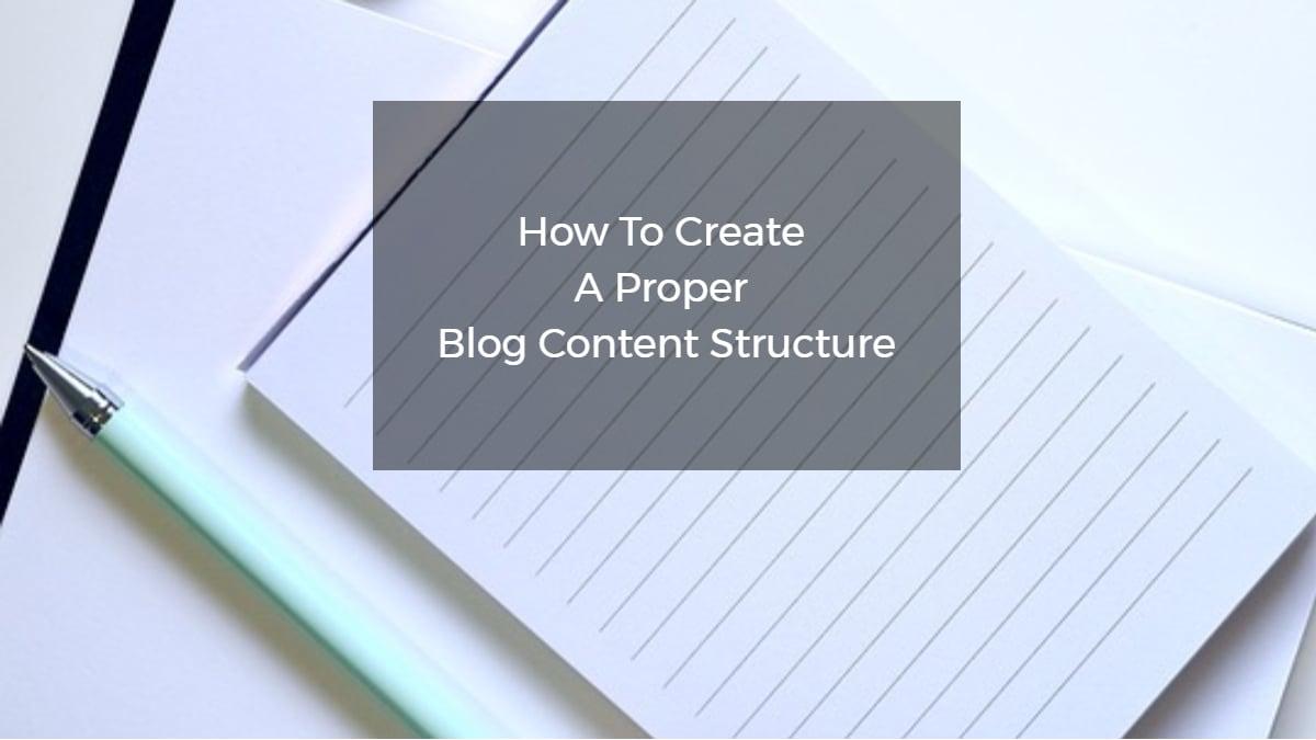 structure blog content
