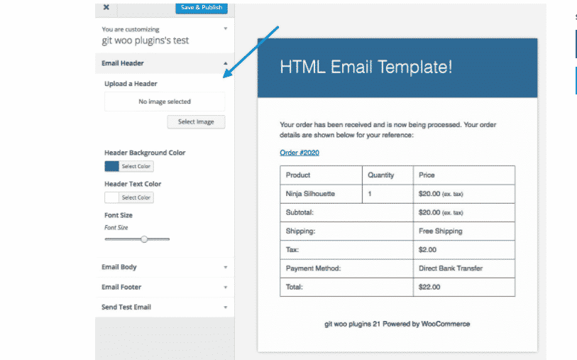 email customizer extension