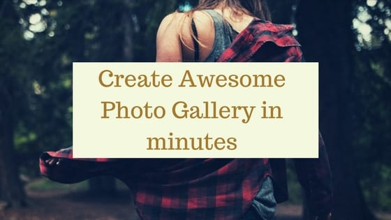 Create Aesome Photo Gallery 1 1