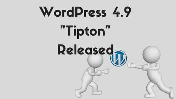 WordPress 4.9 Released 2