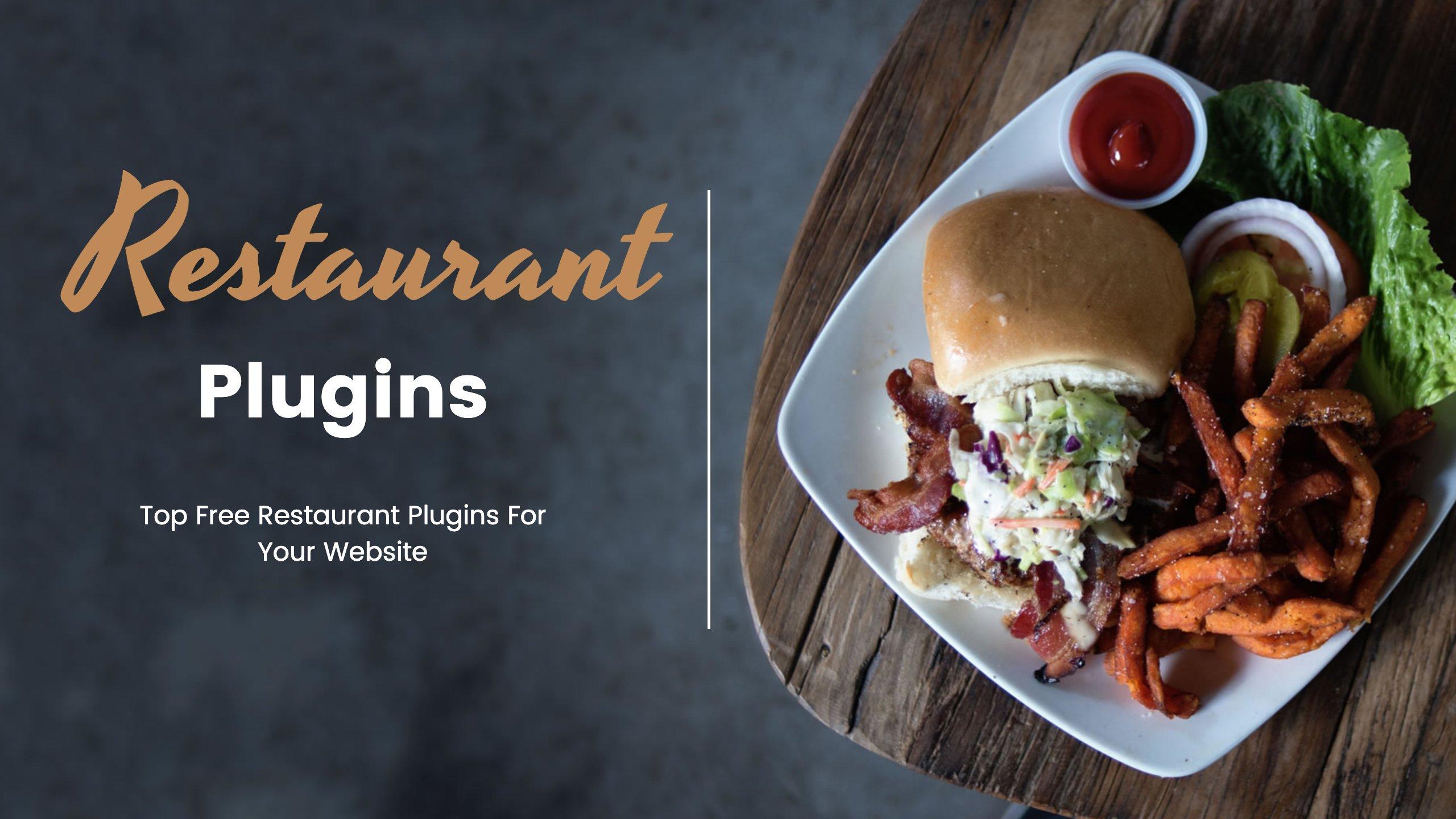 Free Restaurant Plugins wordpress