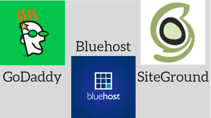 GoDaddy Bluehost SiteGround image