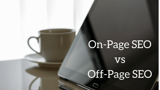 On Page SEO vs Off Page SEo image