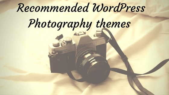 Recommend WordPress Photography themes 1