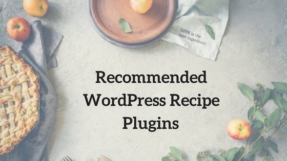 Recommended WordPressRecipe plugins