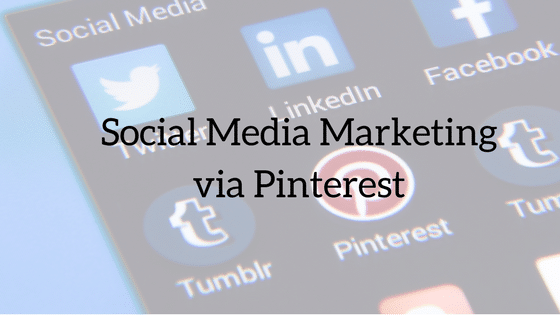 Social Media Marketing via pinterest
