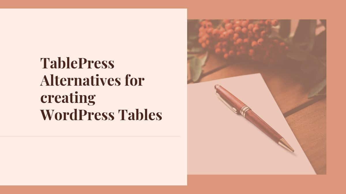 TablePress Alternatives