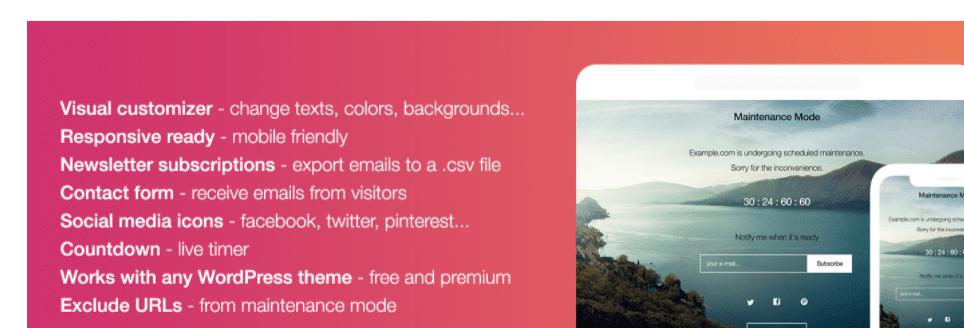 6 awesome WordPress Maintenance Mode Plugins,WordPress Maintenance Mode Plugins