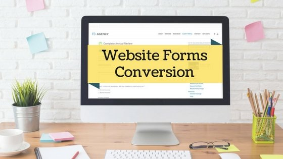 Website form conversion image