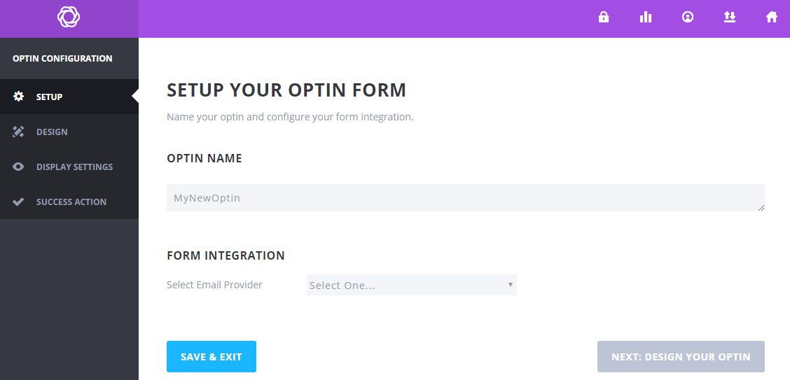 set up opt-in form