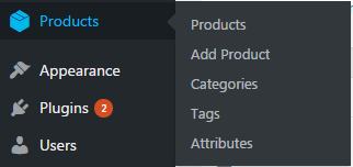WooCommerce Product categories, Tags, Attributes