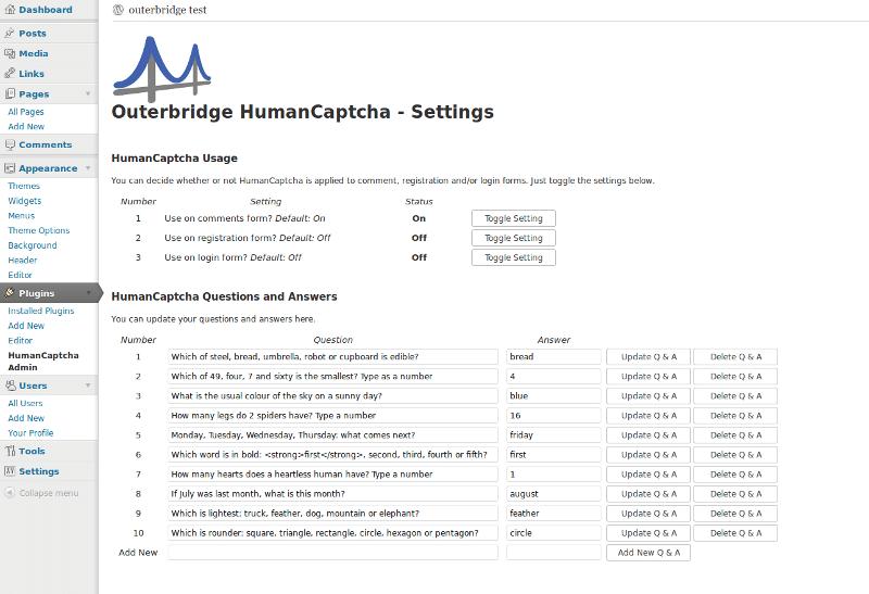 human captcha plugin