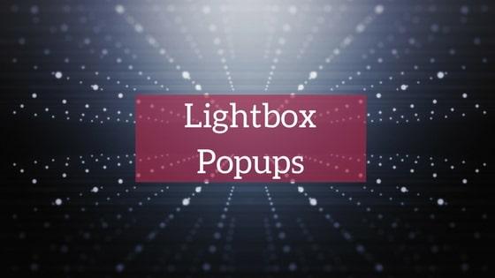 LightBox Popups image