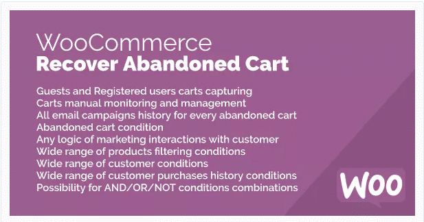 Recover Abandoned Cart for WooCommerce