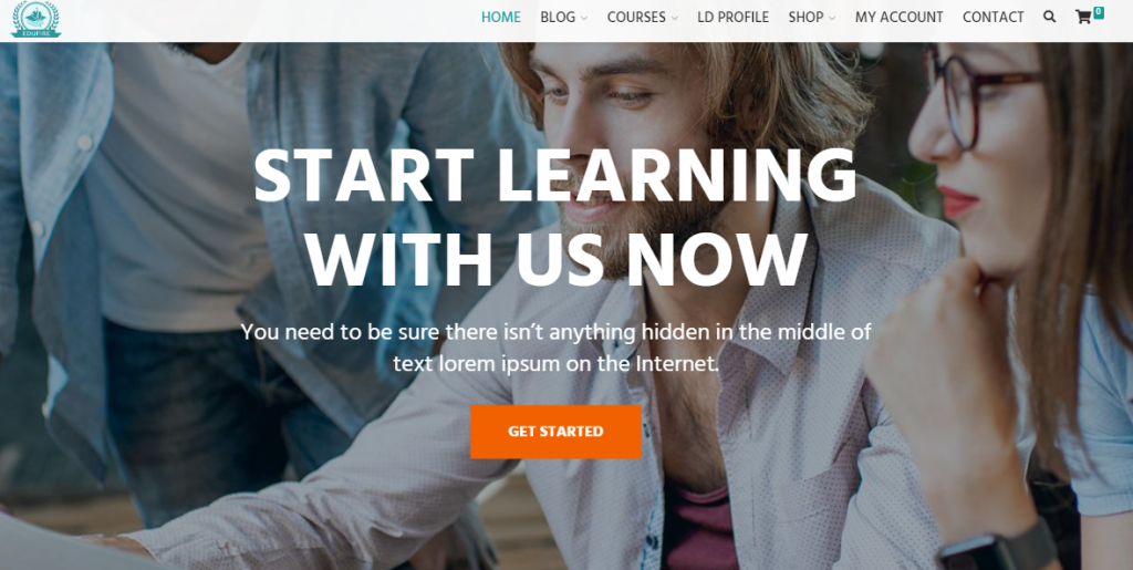 premium e-learning WordPress theme