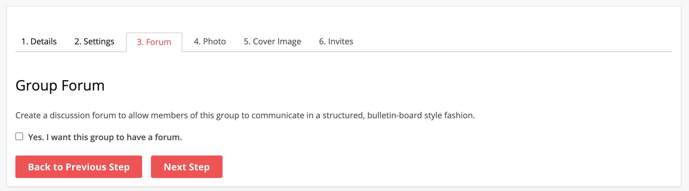 BuddyPress group Forum Integration