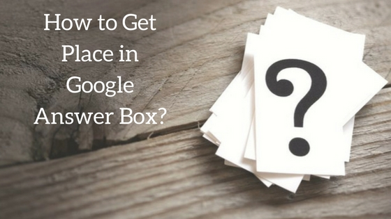 Google Answer Box image