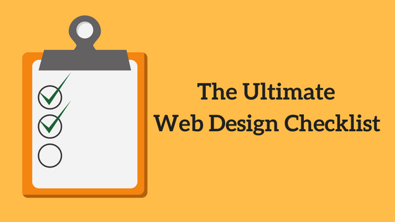 The Ultimate Web Design Checklist