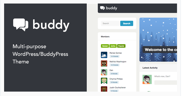 Here checkout the 10 Best BuddyPress Themes, 2018