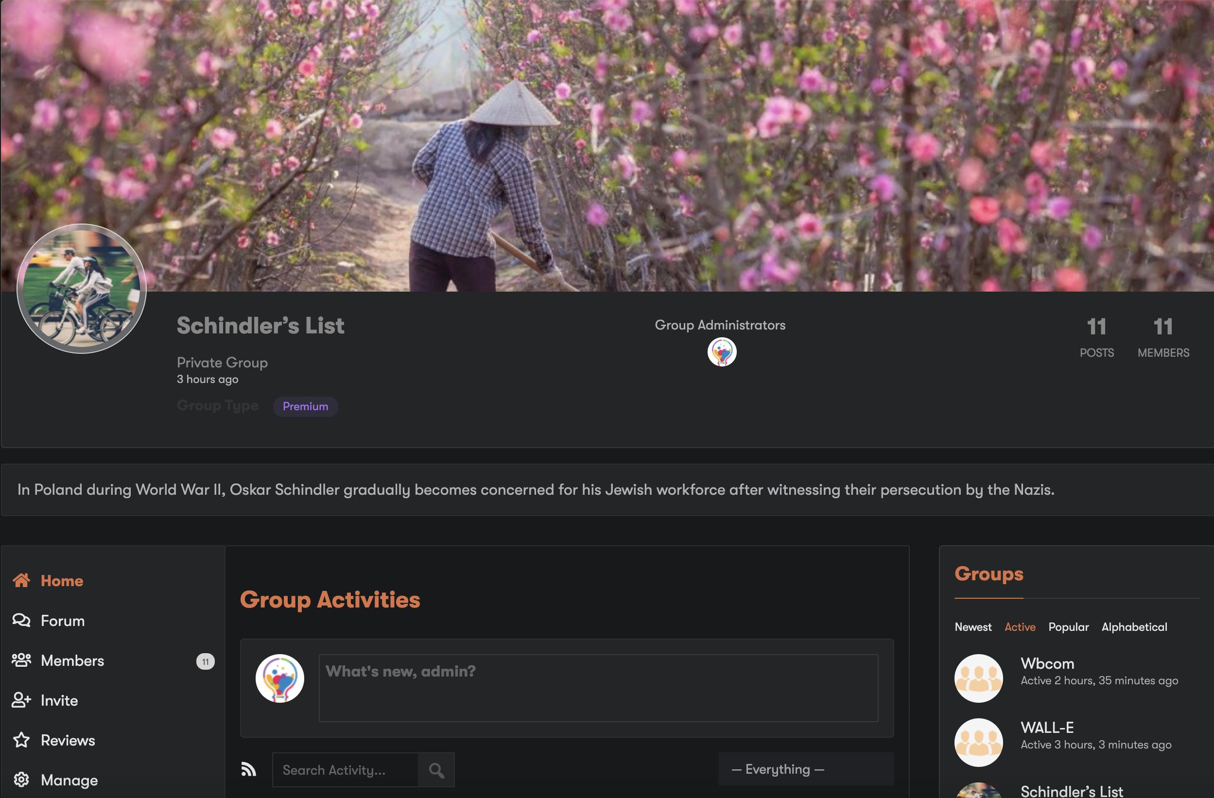 BuddyPress Group Page