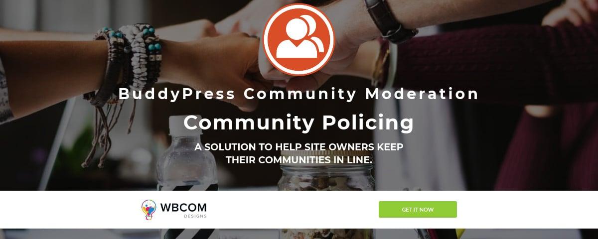 BuddyPress Community Moderation 1200x480